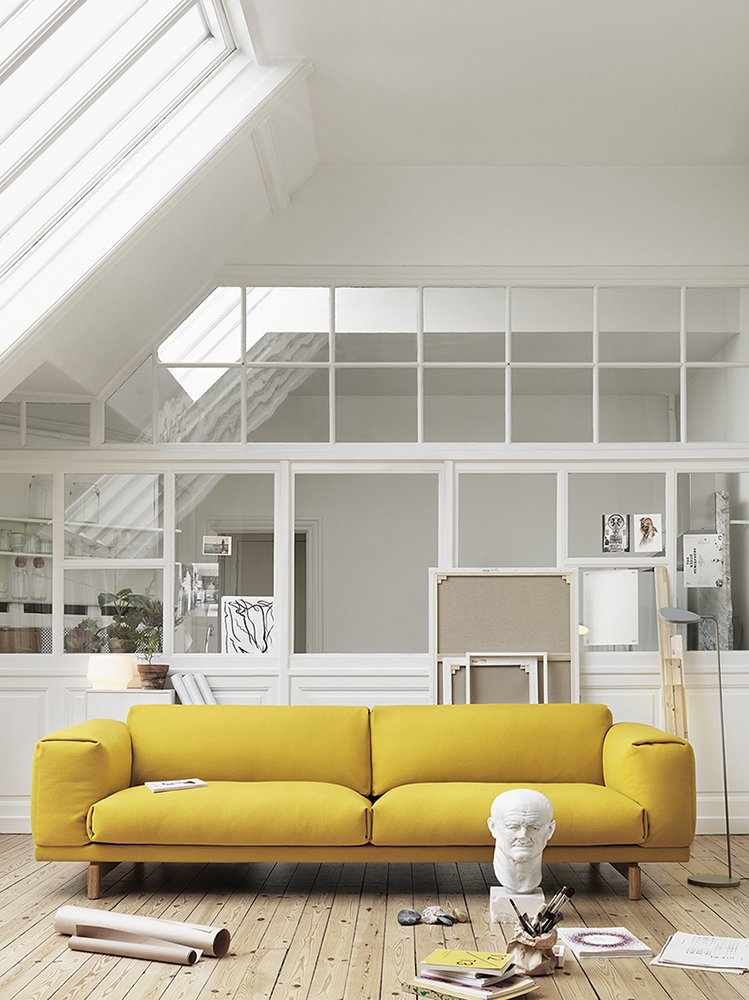 Rest sofa by Anderssen & Voll for Muuto (2011)  Photo 12 of 25 in 25 Bold Ways to Decorate with Yellow from Products We Love by Norwegian Designers Anderssen & Voll