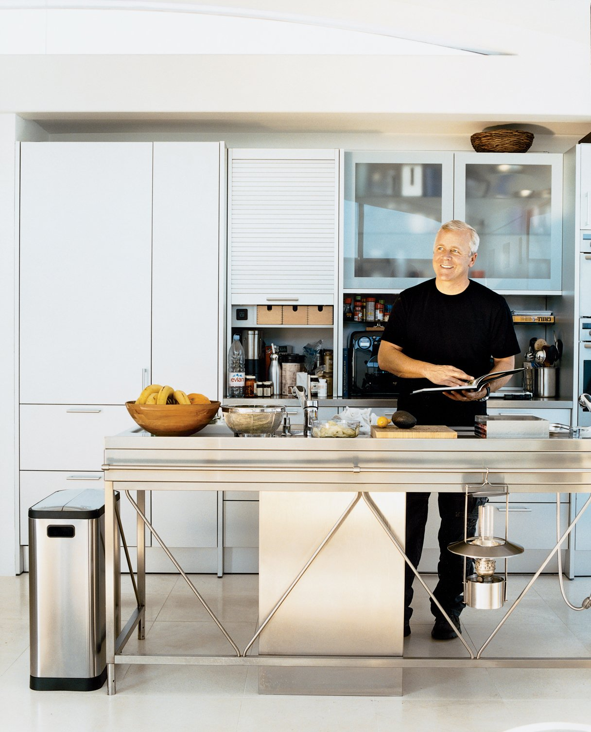 super industrial kitchens by erika heet from stainless chef dwell. Black Bedroom Furniture Sets. Home Design Ideas