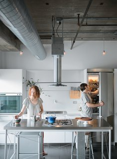 Chelsea and Arthur Jackson renovated their fourth-floor condominium to include a custom Bulthaup kitchen.
