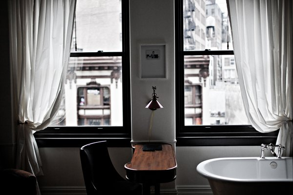 Interior designer Jacques Garcia referenced his first studio apartment in Paris as the model for NoMad's guest rooms. The city views are unbeatable, and I love the tiny writing desks.