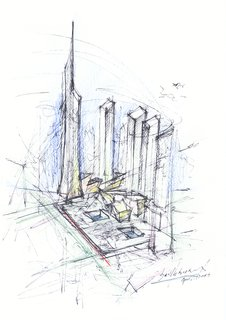 Architect Daniel Libeskind on Optimism and Drawing at Dwell on Design NY - Photo 3 of 3 - The Ground Zero master plan, designed by Libeskind.