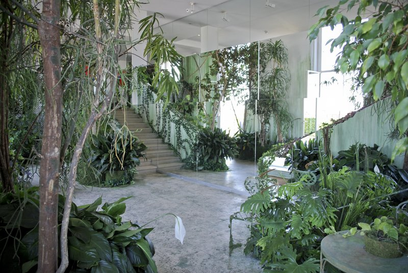 "According to Gaultier, ""My imagination comes from the cinema...I love the idea that nature is capable of trumping concrete.""  Lush Life by Heather Corcoran from Going Green: 11 Ways to Design with Plants"