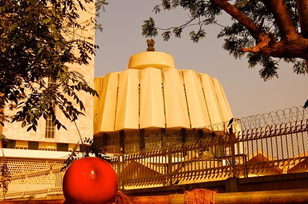 The Vidhan Bhawan, where the state legislature meets, is one of the more unique architectural statements in Mumbai. It was designed by Charles Correa.