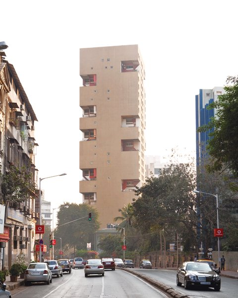 The Kanchanjunga  Apartments, designed by Charles Correa in 1974, is Mumbai's most visible modernist residential building.