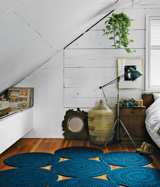 Designer Omer Arbel develops his latest works inside an eclectic Vancouver home filled with a teeming assortment of pets and prototypes.  Photo 12 of 13 in 11 Examples of How to Incorporate Traditional Building Materials Into Your Modern Home from Idiosyncratic Bedrooms