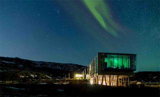 AIA|LA Announces Restaurant Design Awards Finalists - Photo 1 of 5 - Northern Lights Bar (Iceland) designed by Minarc, nominated in Café/Bar category.