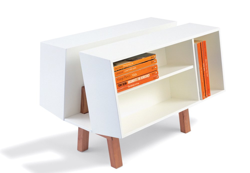 Penguin Donkey 2 book caddy by Ernest Race (1963) for Isokon (£570 at Skandium)  Storage by Dwell from High/Low: Modern Classic Isokon Bookcase