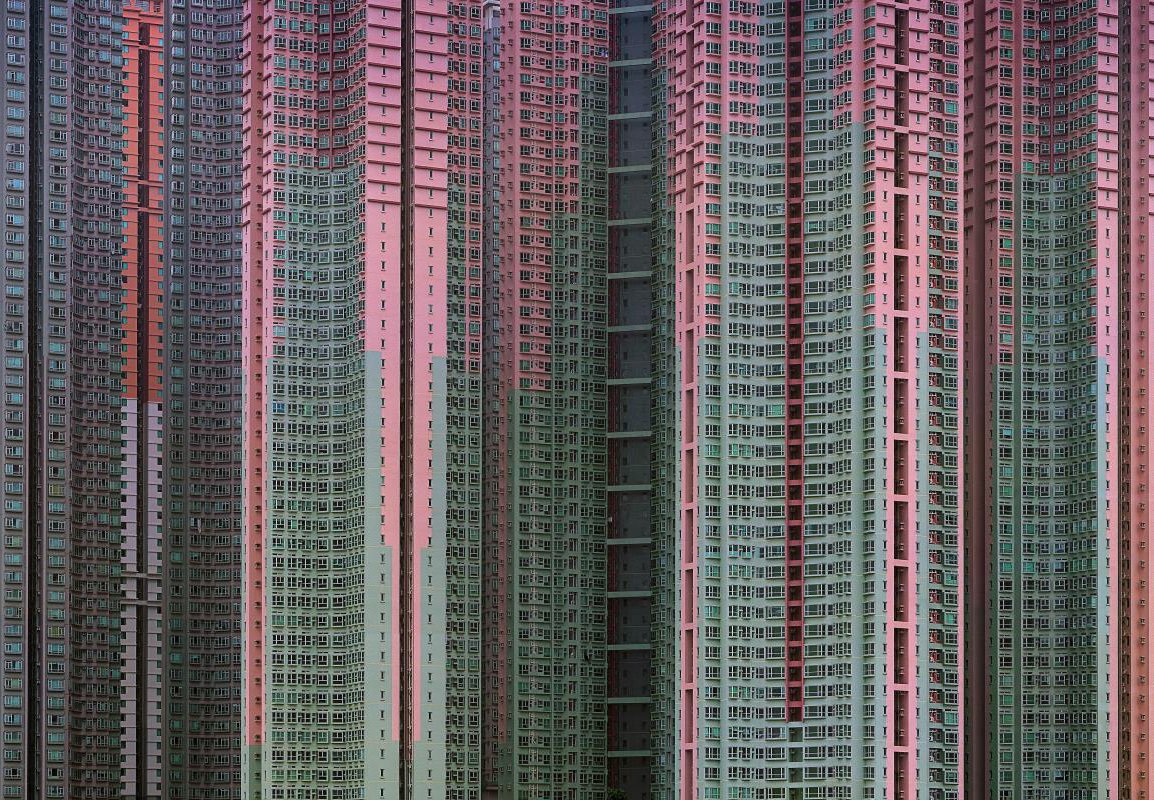 Michael Wolf began photographing Hong Kong's apartment blocks after moving there in 1994. Photo by Michael Wolf, courtesy of the Flowers Gallery.  Photo 1 of 7 in Megacity Living in Hong Kong: Architecture of Density