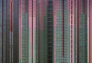 Michael Wolf began photographing Hong Kong's apartment blocks after moving there in 1994. Photo by Michael Wolf, courtesy of the Flowers Gallery.
