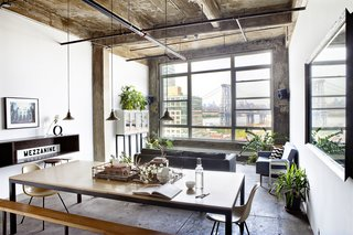 7 Historic Ceilings in Modern Homes That Have Been Beautifully Preserved - Photo 6 of 7 - In a converted industrial loft in Brooklyn designed by Ksenya Samarskaya, the exposed poured-concrete ceiling and its texture were the result of trial and error efforts to achieve an effect that expressed both character and history.