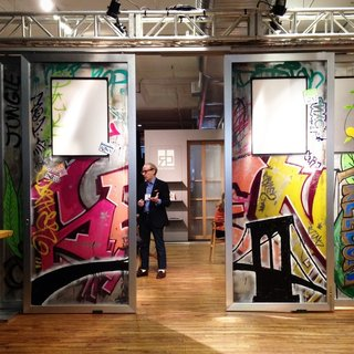 Place Your Bid Here: Sliding Doors with One-of-a-Kind Mural Up for Auction to Benefit Charity - Photo 1 of 7 -