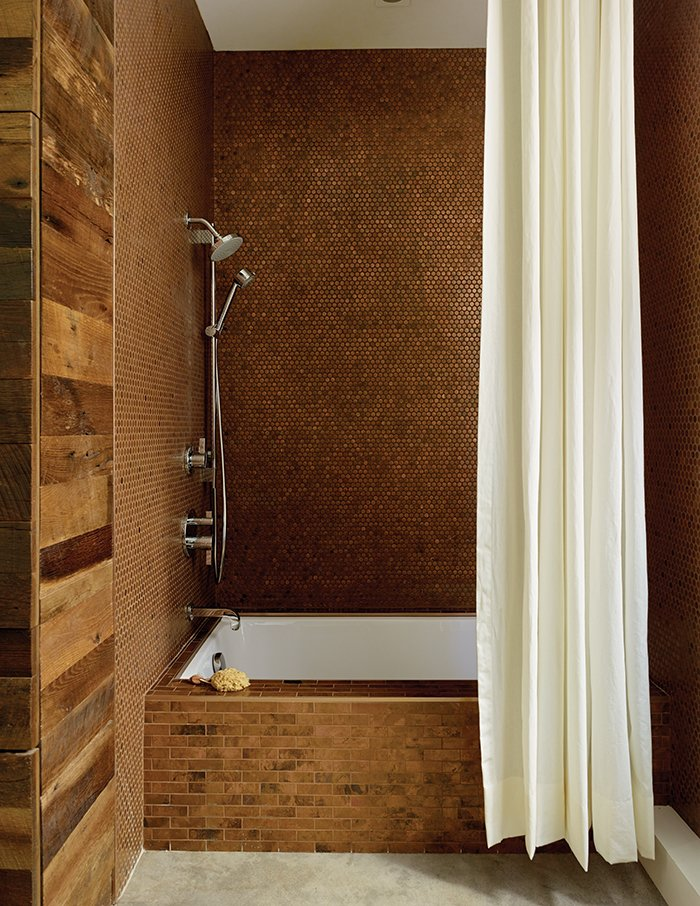 Bathroom Design Idea Copper Color Scheme Dwell