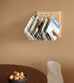 3 Ideas to Store Away for Your Next Home Storage Makeover - Photo 3 of 3 - Noveni<br><br>A wall version of the Folio, each powder-coated steel arm holds one magazine. $300