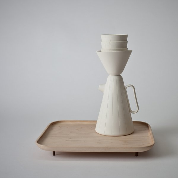 Product of the Day: Ceramic and Wood Coffee Set by Luca Nichetto - Photo 3 of 6 -