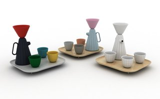 Product of the Day: Ceramic and Wood Coffee Set by Luca Nichetto - Photo 5 of 6 -