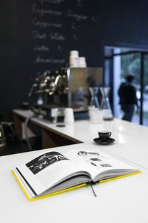 A Design Boutique Opens in Poland - Photo 7 of 7 - The cafe menu is rendered in chalk on the back wall. Photo by Anna Domańska.