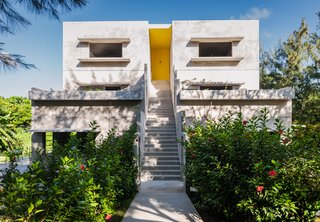 8 Incredible Concrete Homes in Latin America - Photo 3 of 8 - Architect John Hix—who worked under renowned American architect and concrete aficionado Louis Kahn—designed the hotel Hix Island House in Vieques off Puerto Rico. The latest guest house on the property is called Casa Solaris and is entirely removed from the commercial grid, running completely on solar power.