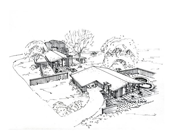Another sketch by Ralph Fournier for the Ridgewood neighbofhood. Image courtesy of Maryville University.