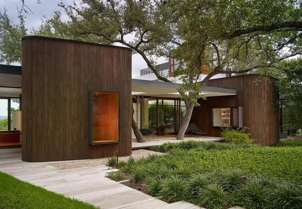 Alterstudio Architecture of Austin designed this house in the Texas capital for a young family of four. Tagged: Exterior, House, and Wood Siding Material.  Photo 1 of 7 in A Sensitive Modern House in Austin, Texas