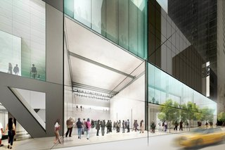 A rendering shows the Museum of Modern Art's 53rd Street entrance as it would appear after an overhaul of the museum's midtown campus. Image courtesy of Diller Scofidio + Renfro.