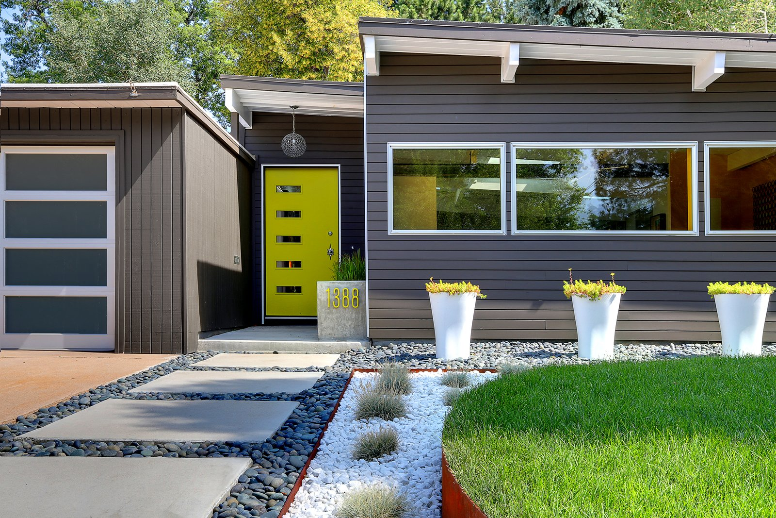 A low maintenance landscape for a midcentury denver home for Mid century modern homes denver