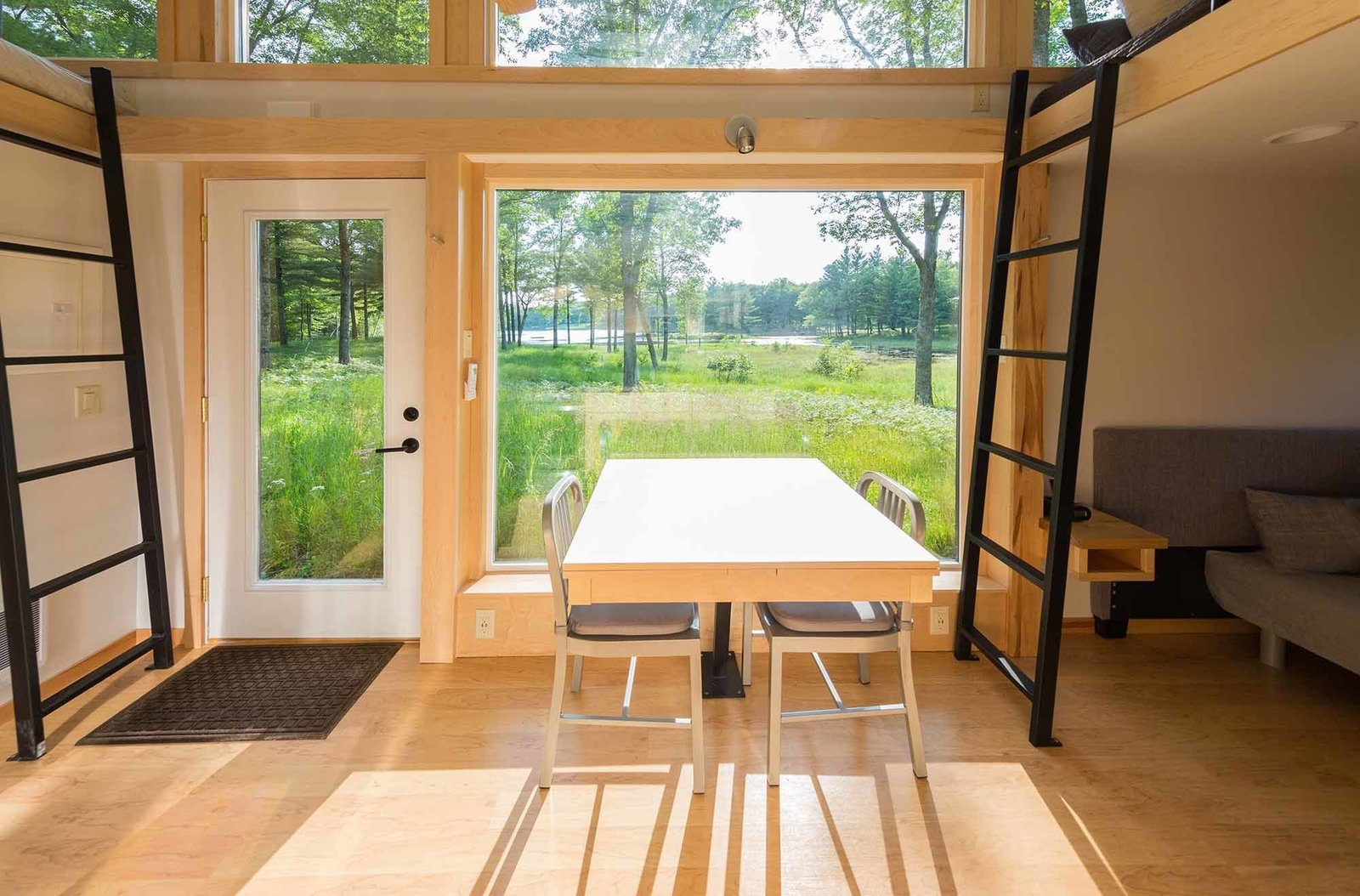 Low-E windows form an energy-efficient seal and usher in natural light.  Shining Examples of Clerestory Windows by Luke Hopping from This Travel-Ready Trailer May Look Small, But It Can Sleep Six