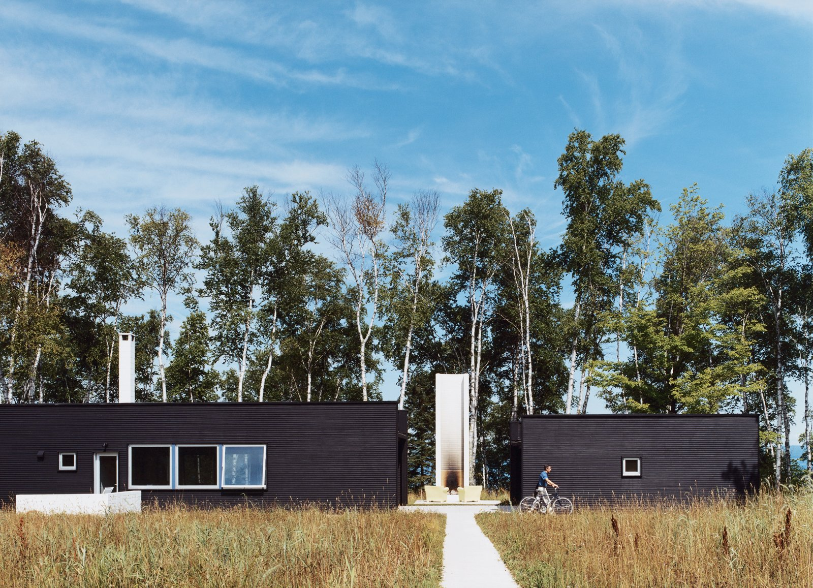 Two Black Sheds incorporates all the conventional aspects of a weekend retreat in a rather unconventional way. Tagged: Exterior and House.  Photo 4 of 10 in Off the Beaten Path