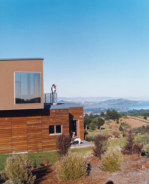 Architect Lorcan O'Herlihy designed the Shermans' Mill Valley, California, home on top of an existing foundation that was intended for an 8,600-square-foot McMansion, but left abandoned for ten years.