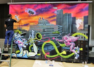 See Surrealist Street Art in Action at Dwell on Design Los Angeles - Photo 2 of 5 -
