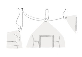 A sketch for Flos' AIM pendant lamp. Image courtesy of Flos.