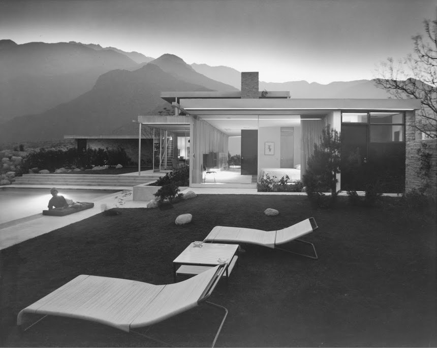 The Kaufman Residence by Richard Neutra, Palm Springs, 1946. Photo courtesy of the Julius Sherman Photography Archive, Getty Research Institute, Los Angeles.  A Crash Course in Palm Springs Architecture by Matthew Keeshin from Exhibit Brings Midcentury California Design to Massachusetts