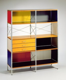 Eames Storage Unit by Charles and Ray Eames for the Herman Miller Furniture Co., circa 1949. Gift of Mr. Sid Avery and Mr. James Corcoran. Photo by Museum Associates/LACMA.