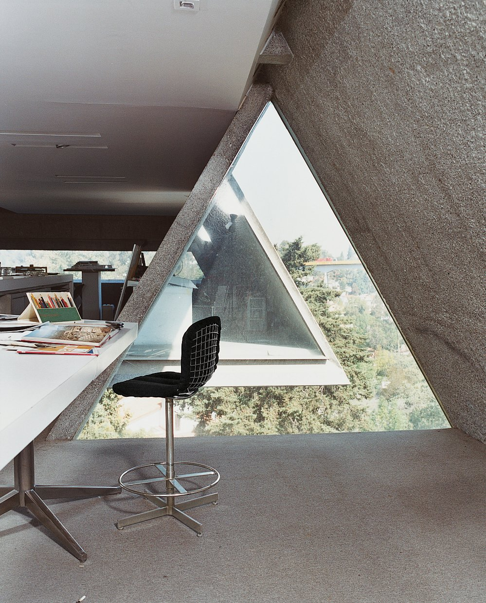 Agustín Hernandez's home office. Tagged: Office, Chair, Desk, and Concrete Floor.  Home Offices and Workspaces We Love by Matthew Keeshin from Hecho in Mexico City