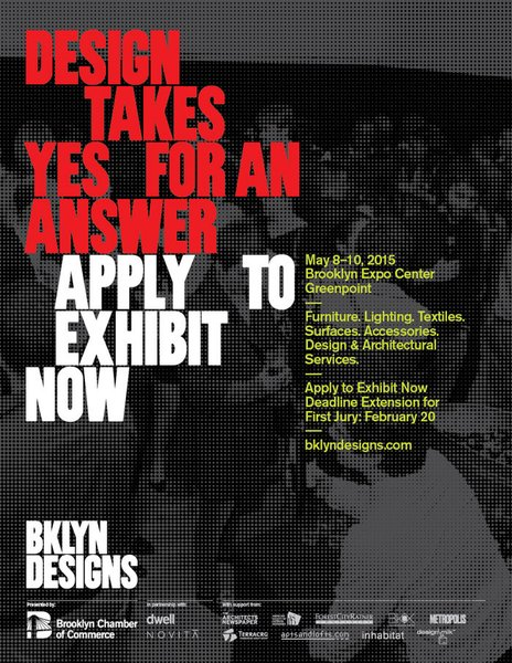 Designers are encouraged to apply by February 20, 2015.