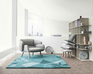 Nendo and BoConcept Collaborate on a New Line of Furniture - Photo 2 of 2 - Oki Sato of Nendo says origami was one of the inspirations for the fusion line, an influence that can be seen in the rug. Photo courtesy of BoConcept.
