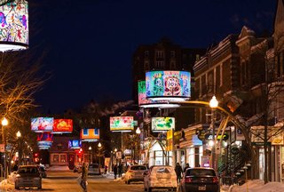 An LED Light Display Takes Over an Avenue in Quebec City - Photo 1 of 6 -