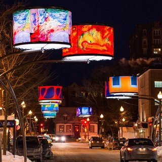 An LED Light Display Takes Over an Avenue in Quebec City - Photo 2 of 6 -