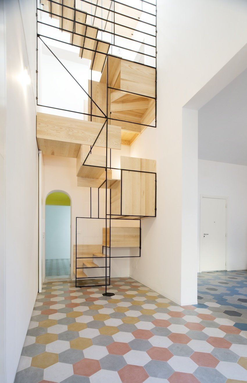 Architect Francesco Librizzi built the staircase for the Casa G project as a means to slow the ascent, to create stations that infused the interior with life. Tagged: Staircase, Wood Tread, and Metal Railing.  190+ Best Modern Staircase Ideas by Dwell from Modern Mediterranean Homes