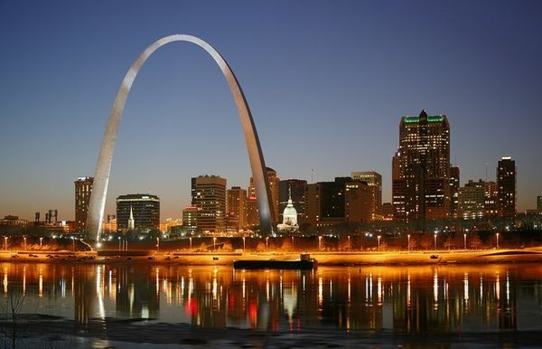 """""""VI. That you were beautiful.""""  The St. Louis Arch (1965), Saarinen's most recognizable architectural feat."""