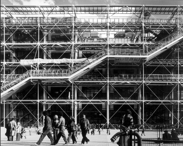 The Pompidou Center in 1977. Image copyright Martin Charles, courtesy of the Royal Institute of British Architects.