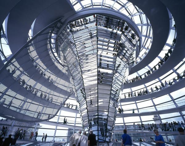 The Reichstag by Norman Foster. Image copyright Nigel Young, courtesy of the Royal Institute of British Architects.