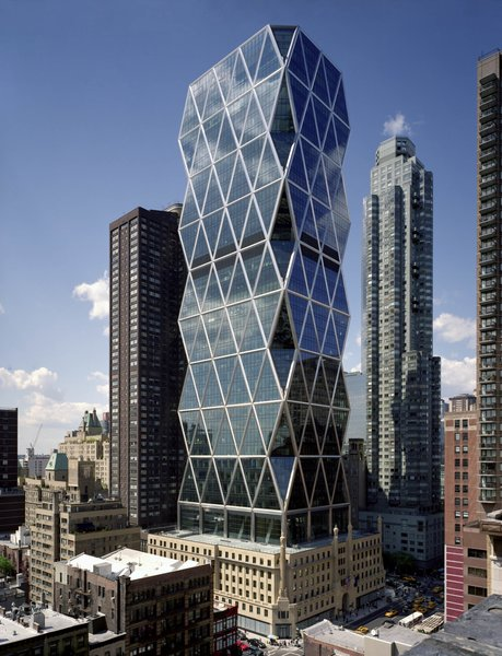 The Hearst Tower in Manhattan, designed by Foster + Partners. Image copyright Chuck Choi, courtesy of the Royal Institute of British Architects.