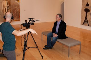 "Prefab architect Leo Marmol discusses design and mobility at the Palm Springs Art Museum for an upcoming video on dwell.com on <a href=""/search/thefutureofmobility"">#thefutureofmobility</a>."