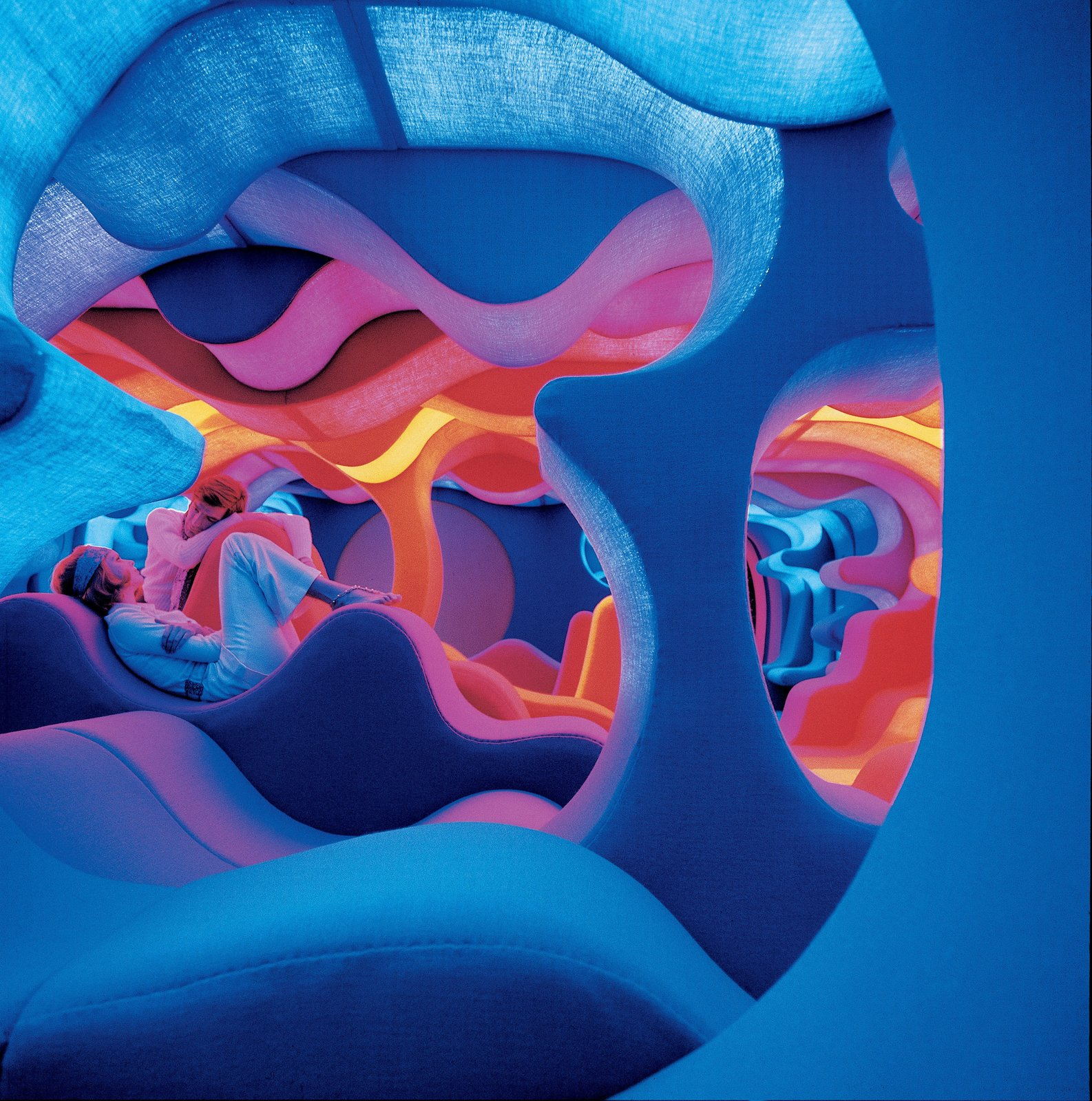 "Another angle of the ""Phantasy Landscape."" © Panton Design, Basel  All the ""Right"" Angles by Matthew Keeshin from Verner Panton's Visiona 1970"