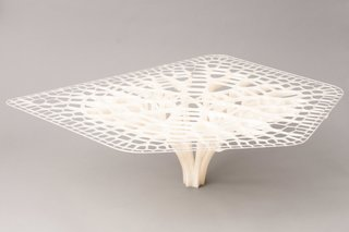 Want the Perfect Chair? Print It - Photo 2 of 6 - Table designed by Exploration Architecture with the BigRep Printer, based on the adaptive growth patterns of trees and bones.
