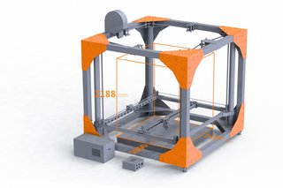 The BigRep ONE printer. Full technical specs are available on the BigRep site.