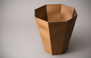 A solid bucket created with the BigRep Printer.