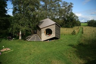 10 Modular Dwellings That Break Away From Traditional Building Practices - Photo 3 of 10 - Jaanus Orgusaar's NOA cabin in the Virumaa region of Estonia is currently used as a summer cottage.
