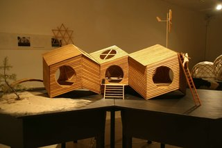 One of the original models for the NOA cabin.