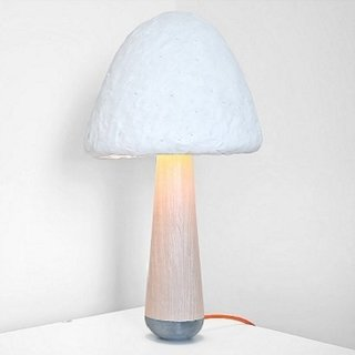A Green Table Lamp Grown from Mushrooms - Photo 2 of 2 -